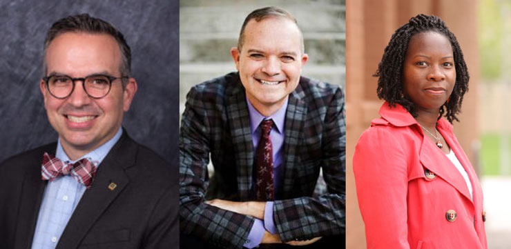 George Cunningham, Corey Johnson, Christine Buzinde
