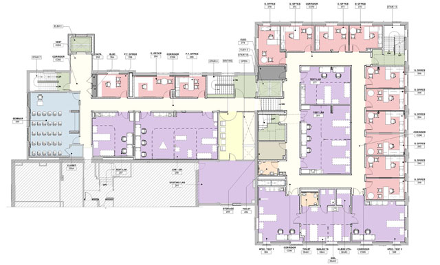 Freer Hall level 2 renovation floor plan