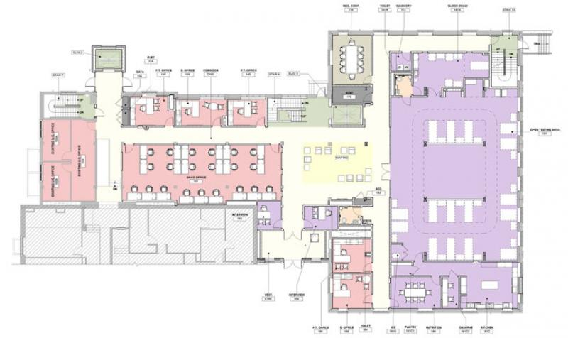 Freer Hall level 1 renovation floor plan