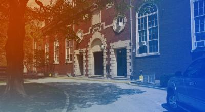 exterior shot of Huff Hall