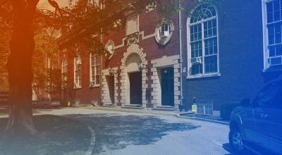 exterior shot of Huff Hall